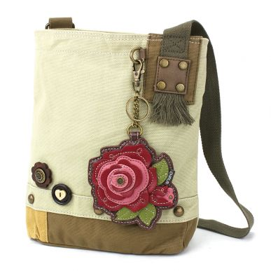 Patch Crossbody - Red Rose