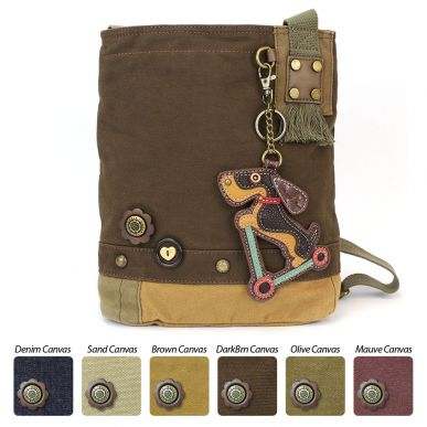 Wiener Dog Scooter - Patch Crossbody Bag
