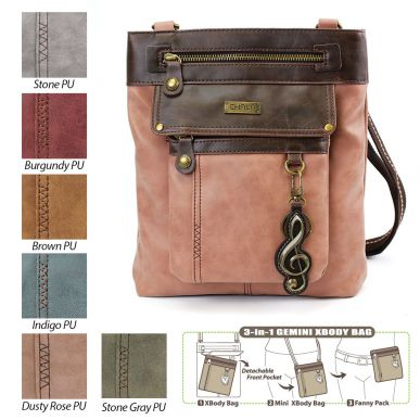 Treble Clef - Gemini Crossbody Bag (Faux Leather)