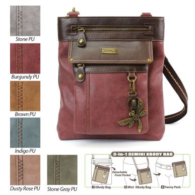 Dragonfly - Gemini Crossbody Bag (Faux Leather)