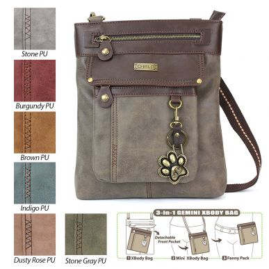 Paw Print - Gemini Crossbody Bag (Faux Leather)