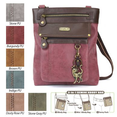 Slim Cat - Gemini Crossbody Bag (Faux Leather)