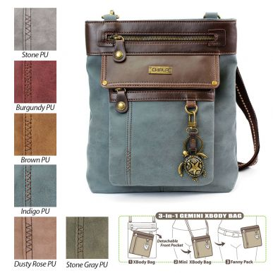 Sea Turtle - Gemini Crossbody Bag (Faux Leather)