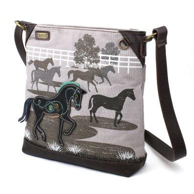 Horse - Safari Canvas Crossbody (Gray)