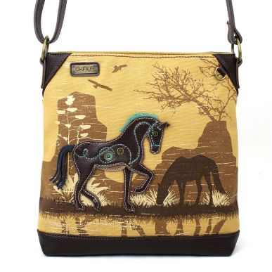 Horse - Safari Canvas Crossbody (Brown)