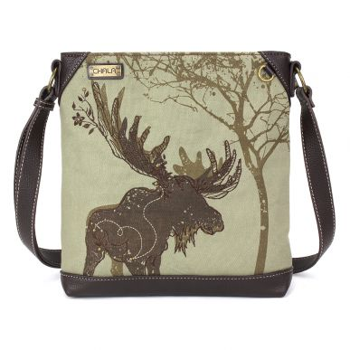 Safari Moose Canvas Crossbody