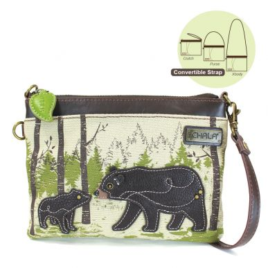 Bear - Safari Canvas Mini Crossbody