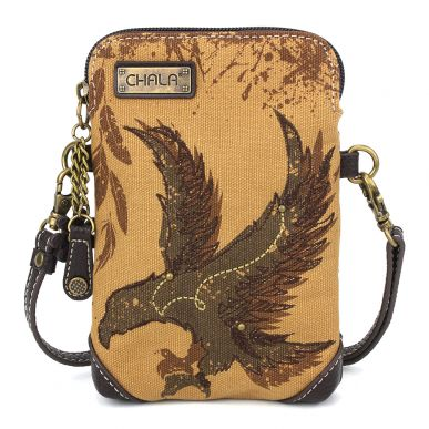 Safari Eagle Canvas Cellphone Crossbody