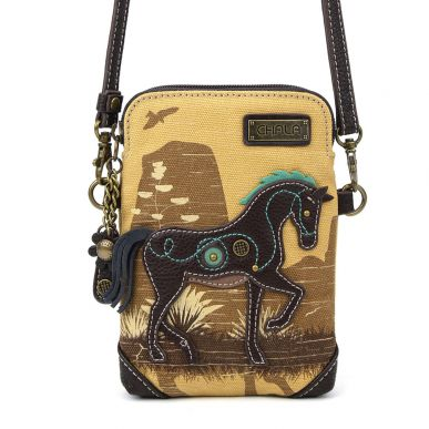 Safari Horse - Canvas Cellphone Crossbody