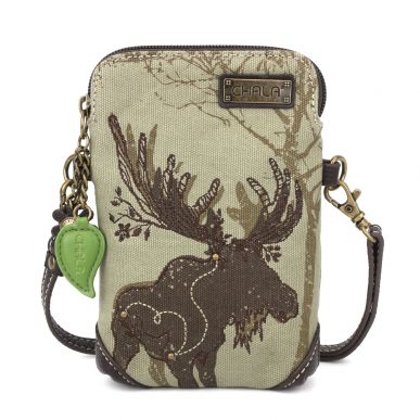 Safari Moose Canvas Cellphone Crossbody