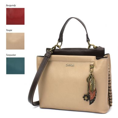 Charming Satchel - Metal Feather