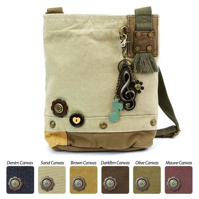 Metal Treble Clef - Patch Crossbody Bag