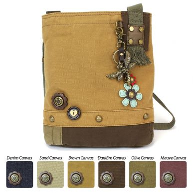 Metal Dragonfly - Patch Crossbody Bag