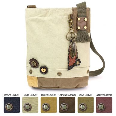 Metal Feather - Patch Crossbody Bag