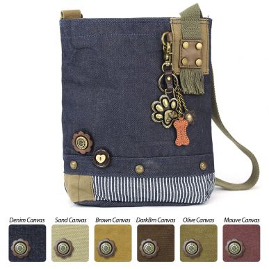 Metal Paw Print - Patch Crossbody Bag