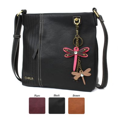 Pink Mini Dragonfly - Laser Cut Crossbody