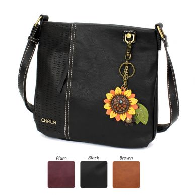 Laser Cut Crossbody - Mini Keychain Sunflower